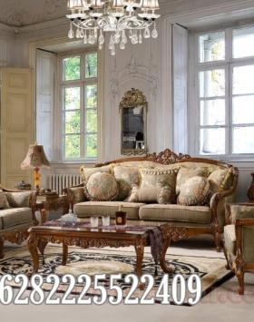 Kursi Tamu Sofa Mewah Kerangka Jati Solid