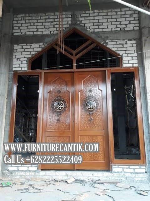 Pintu Masjid Jati Ukiran Mewah