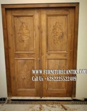Pintu Masjid Jati Ukiran Asli Jepara