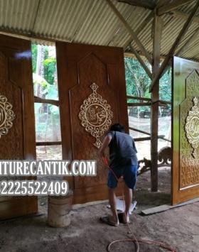 Pintu Masjid Jati Ukiran Jepara