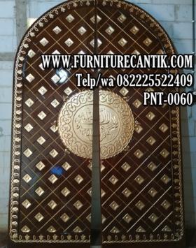 Pintu Masjid Jati Ukiran Kaligrafi Jepara