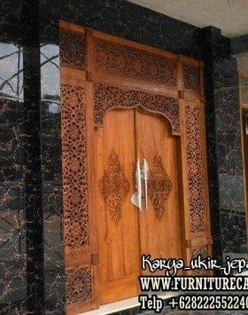 Pintu Rumah Jati Ukiran Kualitas Terbaik